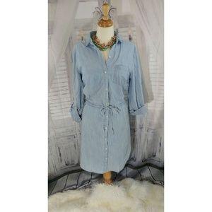 Old Navy Light Blue Chambray Dress